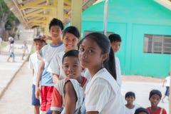 ISOLA di POPOTOTAN, BUSUANGA, FILIPPINE - GENNAIO 20,2012 - Chil Immagini Stock