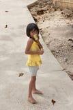 ISOLA di POPOTOTAN, BUSUANGA, FILIPPINE - GENNAIO 20,2012 - ragazza Fotografie Stock Libere da Diritti