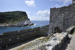 Isola di Portovenere Palmaria Fotografie Stock Libere da Diritti