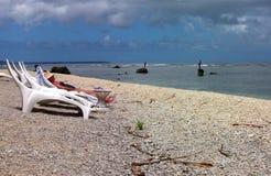 Isola di rifugio - turismo & pesca tradizionale fotografia stock
