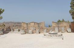 Isola di Rodi dell'acropoli di Lindos, Grecia Immagini Stock Libere da Diritti