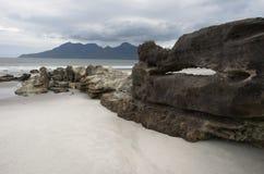 Isola di rum dalle sabbie di canto Fotografie Stock Libere da Diritti