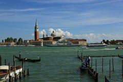 Isola di S. Giorgio Maggiore, Ocean Liner, Ships, Canale Grande, Basilica di S. Marko, Old Buildings, Venice, Venezia, Italy Royalty Free Stock Image