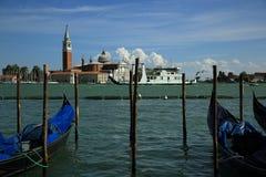 Isola di S. Giorgio Maggiore, Ocean Liner, Ships, Canale Grande, Basilica di S. Marko, Old Buildings, Venice, Venezia, Italy Royalty Free Stock Photo