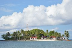 Isola di Samber Gelap, Kotabaru, Borneo del sud, Indonesia Immagine Stock Libera da Diritti