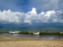 Isola di Samui della spiaggia della nuvola Fotografie Stock Libere da Diritti