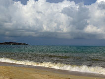 Isola di Samui della spiaggia della nuvola Fotografia Stock Libera da Diritti