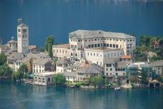 Isola di San Giulio. Lago Orta Fotografia de Stock