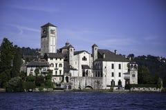 Isola di San Giulio - Orta San Giulio Lizenzfreie Stockbilder