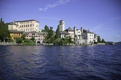 Isola di San Giulio - Orta San Giulio Lizenzfreie Stockfotos