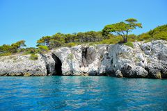 Isola Di San Nicola island. Tremiti, Italy Royalty Free Stock Photos