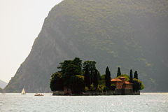 Isola di San Paolo, on Lake Iseo, Lombardy, Italy Stock Images