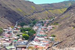 Isola di Sant'Elena e dell'ascensione fotografie stock