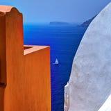 Isola di Santorini, Grecia Fotografie Stock Libere da Diritti