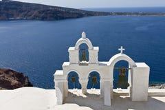 Isola di Santorini, paesaggio Immagini Stock Libere da Diritti