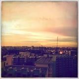 Isola di Singapore - alba di vista della città Fotografia Stock Libera da Diritti