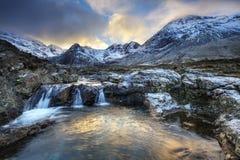 Isola di Skye, stagni leggiadramente Fotografia Stock