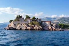 Isola di St Stephen nel mare adriatico Fotografia Stock
