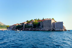 Isola di St Stephen nel mare adriatico Fotografie Stock
