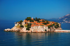 Isola di Sveti Stefan Fotografie Stock Libere da Diritti