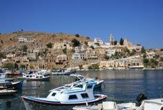 Isola di Symi in Grecia Fotografia Stock Libera da Diritti