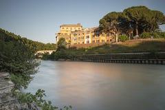 Isola di Tiberina Fotografia Stock Libera da Diritti