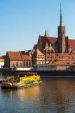 Isola di Tumski a Wroclaw, Polonia, Europa Orientale Immagini Stock Libere da Diritti