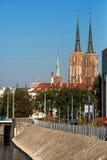 Isola di Tumski a Wroclaw, Polonia, Europa Orientale Immagine Stock Libera da Diritti