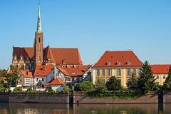 Isola di Tumski a Wroclaw, Polonia, Europa Orientale Fotografia Stock