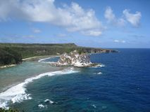 Isola di uccello, Saipan CNMI fotografia stock libera da diritti