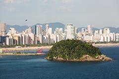 Isola di Urubuqueçaba, Santos, Brasile Fotografie Stock Libere da Diritti