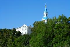 Isola di Valaam, la vista dal porticciolo del monastero Fotografia Stock Libera da Diritti