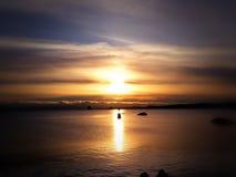 Isola di Vancouver di tramonto dell'oceano Canada Immagine Stock Libera da Diritti