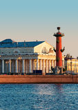 Isola di Vasilevsky. Immagini Stock