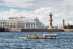 Isola di Vasilyevsky nel giorno di estate Fotografia Stock Libera da Diritti