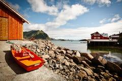 Isola di Vestvågøy - di Ure - Lofoten fotografie stock libere da diritti