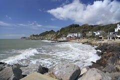 Isola di Wight della baia di Steephill Fotografie Stock