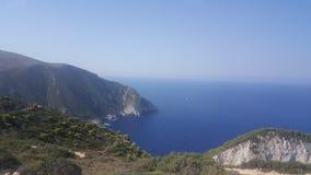 Isola di Zakyntos la bellezza del mare e della spiaggia fotografie stock libere da diritti