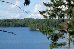 Isola e lago fotografia stock
