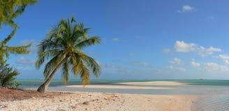 Isola e laguna abbandonate in Pacifico Fotografia Stock
