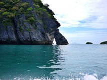 Isola e mare Immagine Stock Libera da Diritti