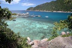 Isola e mare di vacanza Immagini Stock Libere da Diritti