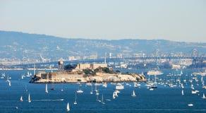 Isola e prigione di Alcatraz a San Francisco Bay Fotografia Stock Libera da Diritti