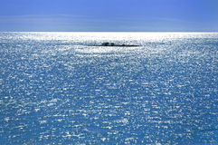Isola ed oceano Fotografie Stock