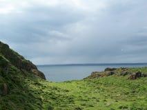 Isola ed oceano verdi Fotografie Stock Libere da Diritti