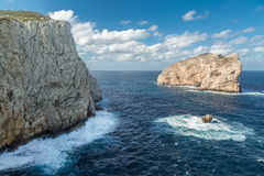 Isola Foradada near Alghero in Sardinia Stock Photography