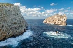 Isola Foradada near Alghero in Sardinia Stock Photography