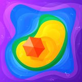 Isola gay di Paradise Fondo astratto dell'arcobaleno di estate con spazio per testo Di concetto colorato multi luminoso festivo d fotografie stock