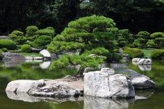 Isola in giardino giapponese Fotografia Stock
