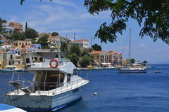 Isola greca Fotografie Stock